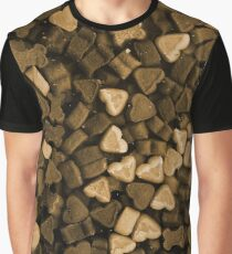 Dried dog food heart bones sepia Graphic T-Shirt
