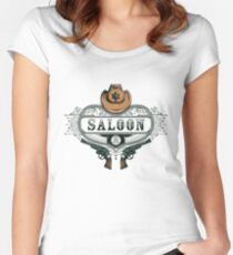 Saloon Women's Fitted Scoop T-Shirt