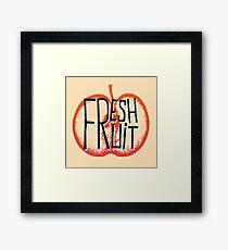 Apple fresh fruit illustration Framed Print