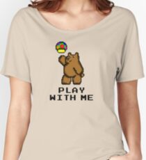 8-Bit Bear - Play with Me Women's Relaxed Fit T-Shirt