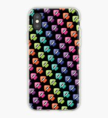 Rainbow Squid on black iPhone Case