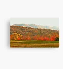 """""""View of the Smokies  from Mountain Home, Tennessee""""... prints and products Canvas Print"""
