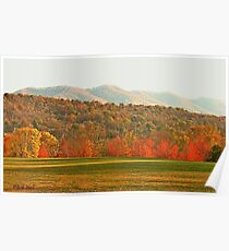 """""""View of the Smokies  from Mountain Home, Tennessee""""... prints and products Poster"""