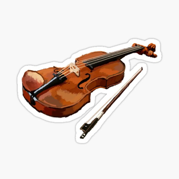 Violin Music player Sticker