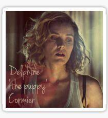 Delphine 'the puppy' Cormier  Sticker