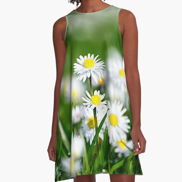Daisy land art work. A-Line Dress