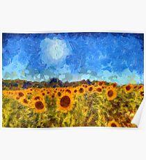 Sunflower Fields Van Gogh Poster