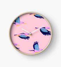 Kingfishers No.2 Clock
