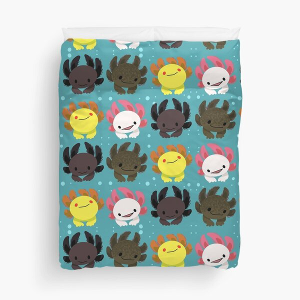 Axolotl Squad Duvet Cover