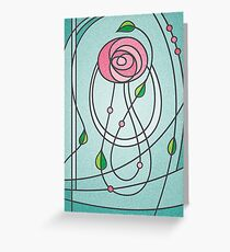 Mackintosh Rose Greeting Card