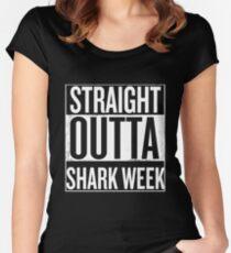 Straight outta shark week Women's Fitted Scoop T-Shirt
