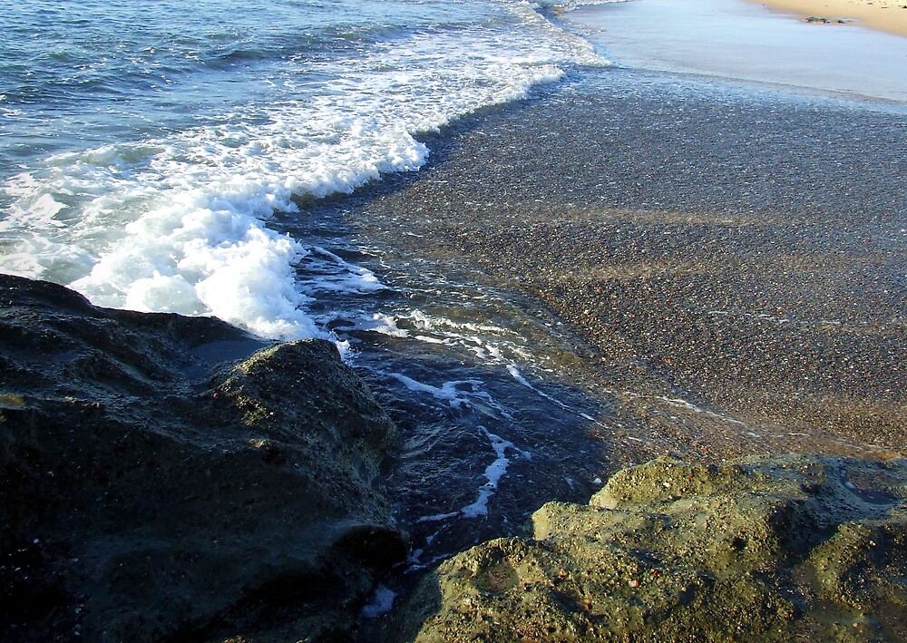 rocks, sand, water by adam pearson
