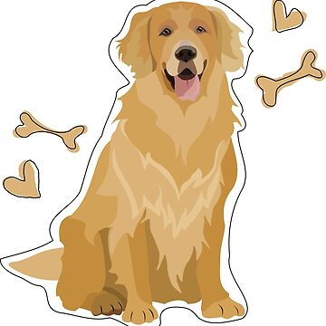 GOLDEN RETRIEVER DOG  by gumidomino