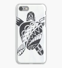 Maori tattoo turtle iPhone Case/Skin