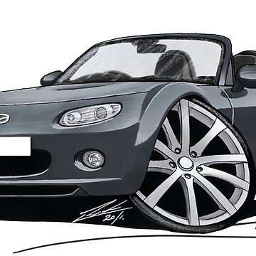Mazda MX5 (Mk3) Grey by yeomanscarart