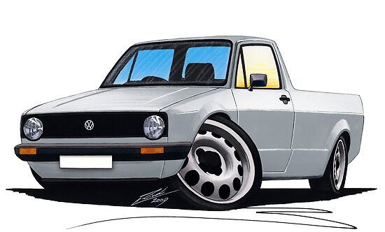 VW Caddy Silver by yeomanscarart