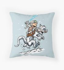 Calvin and Hoth Throw Pillow