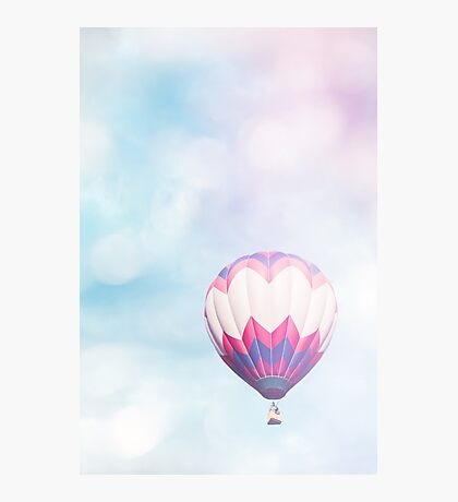 Pink & Blue Balloon Photographic Print
