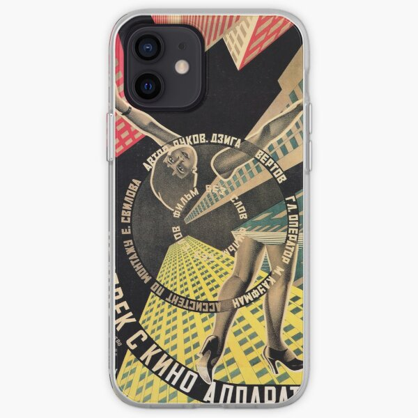 Man with a Movie Camera, vintage movie poster, 1929 iPhone Soft Case