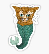 Mer Cat Fish Sticker