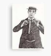 'Buster Keaton' Metal Print