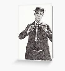 'Buster Keaton' Greeting Card