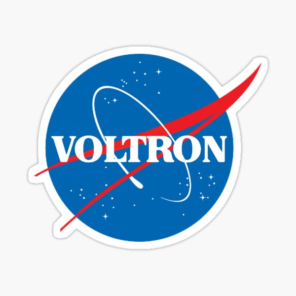 NASA (but it's voltron) Sticker