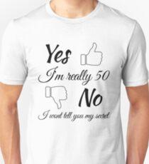 50th Birth Gift for Women  Unisex T-Shirt