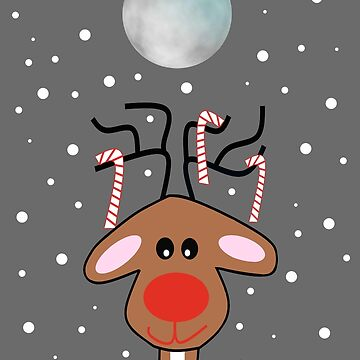 Moonlight Reindeer - Merry Christmas by kathlesa
