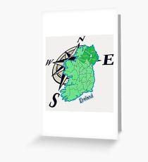 Island of Ireland - GEO Files Greeting Card