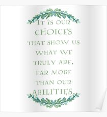 Albus Dumbledore Quote Poster