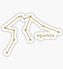 Aquarius Gold Constellation Sticker