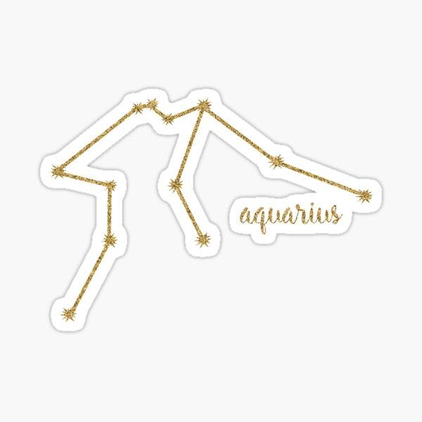 Aquarius Gold Constellation Sticker
