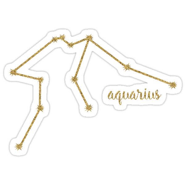 Quot Aquarius Gold Constellation Quot Stickers By Mackenziemakes