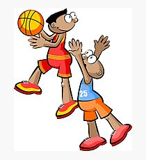 Two Basketball player - cartoon style Photographic Print