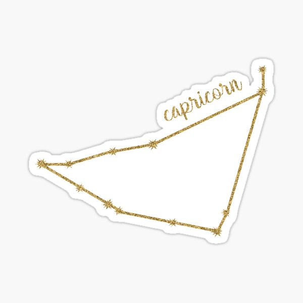 Capricorn Gold Constellation Sticker