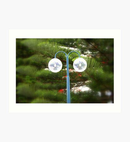 Sidewalk Lamp ... ein genauerer Blick Kunstdruck