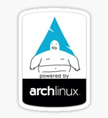 Powered By Arch Linux Sticker