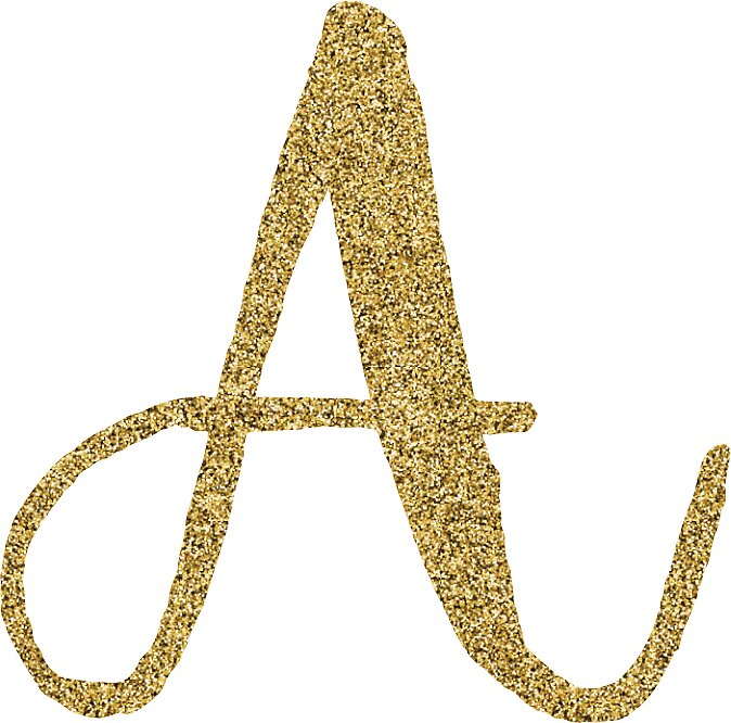 """Letter 'A' Gold Glitter Initial"" Stickers by ..."