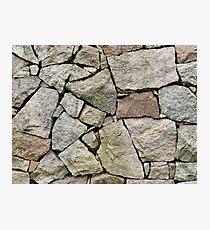 Stone pile Photographic Print