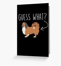Pekingese Dog lover Greeting Card
