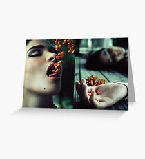 Don't Eat The Berries Greeting Card