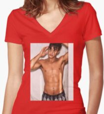 Cameron Dallas x Tings London | 2017 Women's Fitted V-Neck T-Shirt