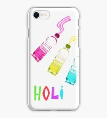 Holi, Festival of Colors, Bottles Filled with Liquid Colors iPhone Case/Skin