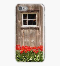 Red Tulips & Barn iPhone Case/Skin