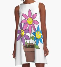 Happy Flowers A-Line Dress