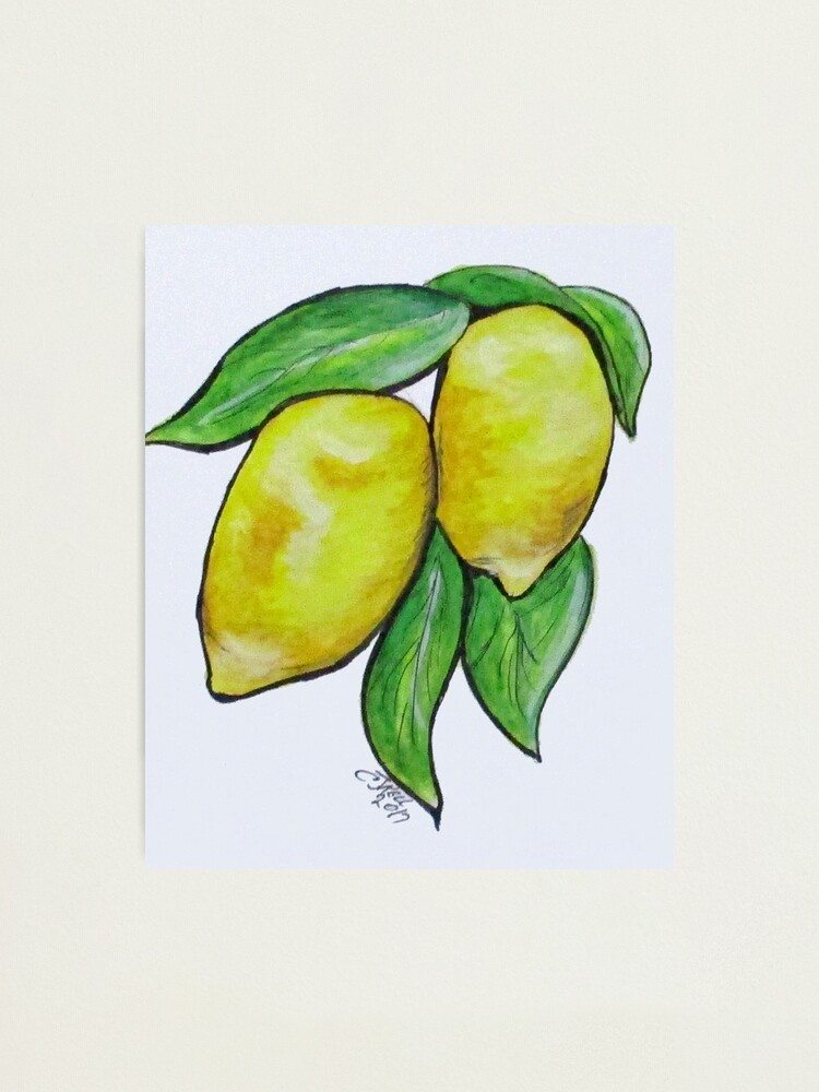 Alternate view of Two Lemons Photographic Print