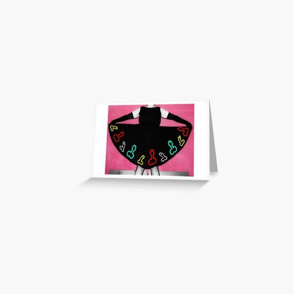 Penis Dress Greeting Card