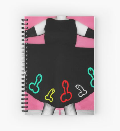 Penis Dress Spiral Notebook