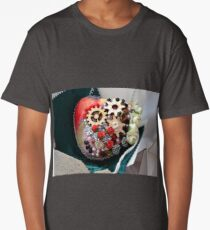 Steampunk heart , gothic punk. Long T-Shirt